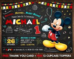 chalkboard mickey mouse clubhouse birthday invitation