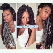 medium size packaged pre twisted hair for crochet braids 6pack lot kinky twist braids havana twist senegal twist hair