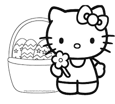 easter colouring easter hello kitty coloring