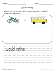 opinion writing prompts year 2 education com