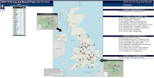 Utd Map 2015 16 Fa Cup Second Round Proper Location Map With Current