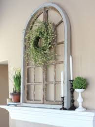 outstanding arched window frame wall decor fireplace mantel decor