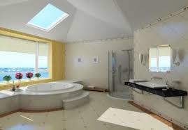 bathroom interior design with skylight interior design