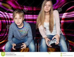 boy and playing video games royalty free stock photo image
