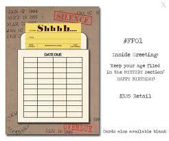 Book Birthday Card Shhhhh Book Themed Birthday Card With A Vintage Book Card And