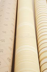 three wallpaper rolls close up stock images image 4869214