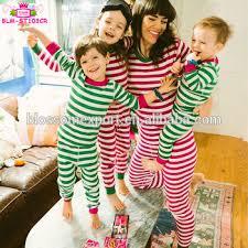 wholesale matching family pajamas children green
