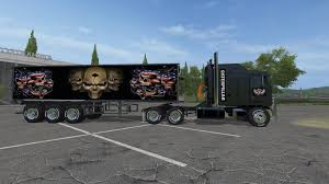 Seeking Trailer Fr Cat Kenworth K100 And Trailer V1 0 For Fs 17 Farming Simulator
