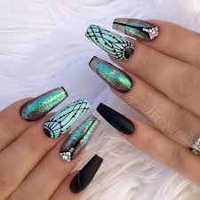 21 coffin style nails to win the day naildesignsjournal com