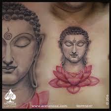 lotus flower tattoo on men buddha tattoo on lotus flower ace tattooz u0026 art studio mumbai india