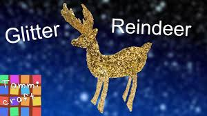 how to make a glitter reindeer great for kids christmas