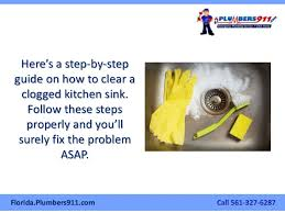 How To Fix Clogged Kitchen Sink by How To Clear A Clogged Kitchen Sink