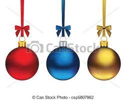 vector illustration of ornaments three hanging