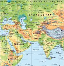 Physical Map Of East Asia by Middle East Map 1 U2022 Mapsof Net