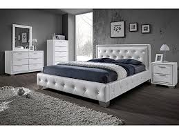 sulu 4ft6 bed crystal double bed faux leather bed frame finish