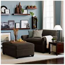 Living Room Color With Brown Furniture Living Room Decorating Wall Shelves Brown Sofa Ideas Living Room
