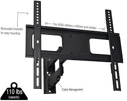Cable Management System For Wall Mounted Tv Mount Vw02vivo Fully Articulating Tv Wall Mount Vesa Stand For Lcd