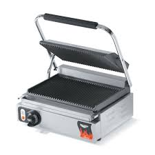 Toaster Press Vollrath 40794 Commercial Panini Press W Cast Iron Grooved Plates
