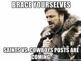 Cowboys Saints Meme - saints vs cowboys new orleans saints pinterest saints vs