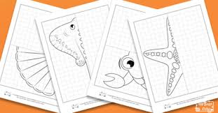 sea animals symmetry drawing worksheets itsy bitsy fun