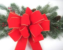 Decorative Christmas Bows Outdoor by Red Velvet Bow Etsy