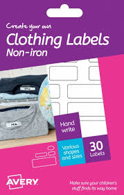 iron clothing avery create your own white clothing labels n whsmith