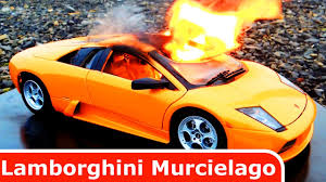 koenigsegg fire lamborghini murcielago diecast car toy is burning its on fire