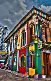 colorful building colorful buildings in little india singapore cool places