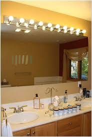 Bathroom Mirror And Light Light Fixtures Above Bathroom Mirror Lighting Installing Fixture