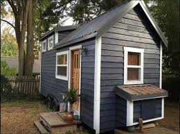 green luxury tiny house i love the blue gray paint color