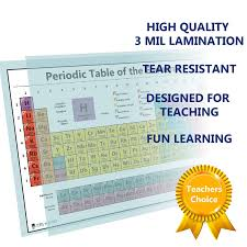 atomic number periodic table periodic table science poster laminated chart teaching white
