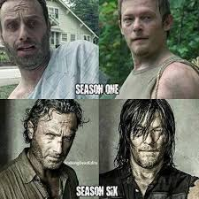 Walking Dead Memes Season 1 - rick and daryl from season 1 to season 6 from enemies to