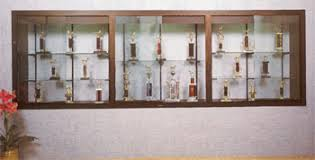 wall display cabinet with glass doors recessedcases