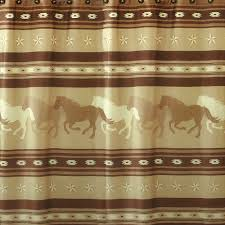 better homes and gardens texas horse fabric shower curtain