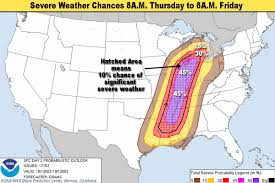 Oklahoma Weather Map Michigan Weather Update Severe Weather Chances Increased For