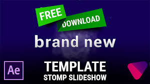free after effects template stomp slideshow