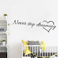 popular dreams quotes buy cheap dreams quotes lots from china never stop dreaming inspirational quotes wall art bedroom decorative stickers 8567 diy home decals mural