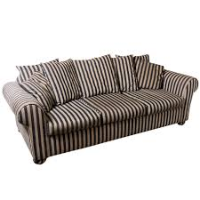 Sofa Back Pillows by Black And Gray Striped Sofa With Loose Pillow Back And 2