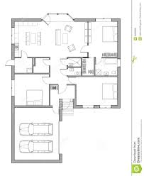Single Family Floor Plans Project Of The Single Family House Stock Illustration Image