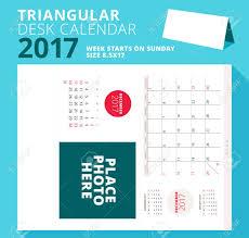 triangular desk calendar planner for 2017 year december 2017