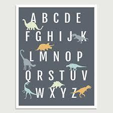 Abc Nursery Decor Dinosaur Alphabet Poster Dinosaur Decor Abc Poster Dinosaur