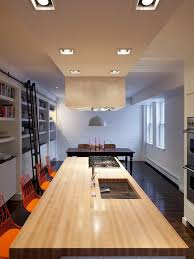 kitchen designs modern dining room with wood long table and