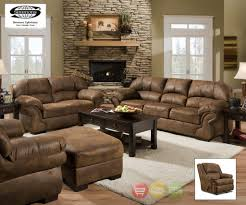 Pinto Sofa LoveSeat  Rocker Recliner Casual Tobacco Brown - Casual living room chairs