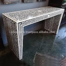 Bone Inlay Chair Indian U0026 Moroccan Style Camel Bone Inlay Console U0026 Laptop Table
