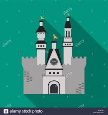 Palace Design Castle Icon Palace Design Flat Illustration Vector Stock Vector