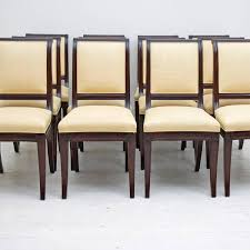 Colonial Style Dining Room Furniture Set Of 12 British Colonial Style Dining Chairs Upholstered In