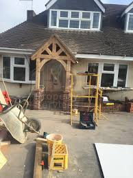 before and after photos new front doorway with gabled canopy
