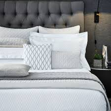 cadogan double duvet cover in platinum peacock blue hotel at