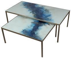 Small Coffee Table Buy Blue Mist Organic Small Coffee Table Set Furntastic
