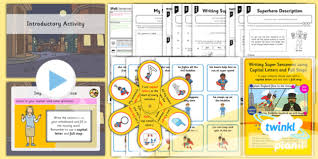 planit y1 spag lesson pack sentences with capital letters and